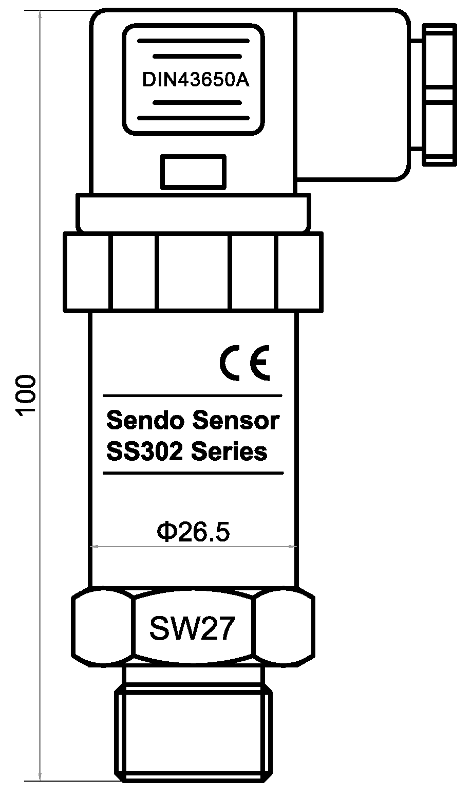 SS302 series OEM pressure sensor for hydraulic application