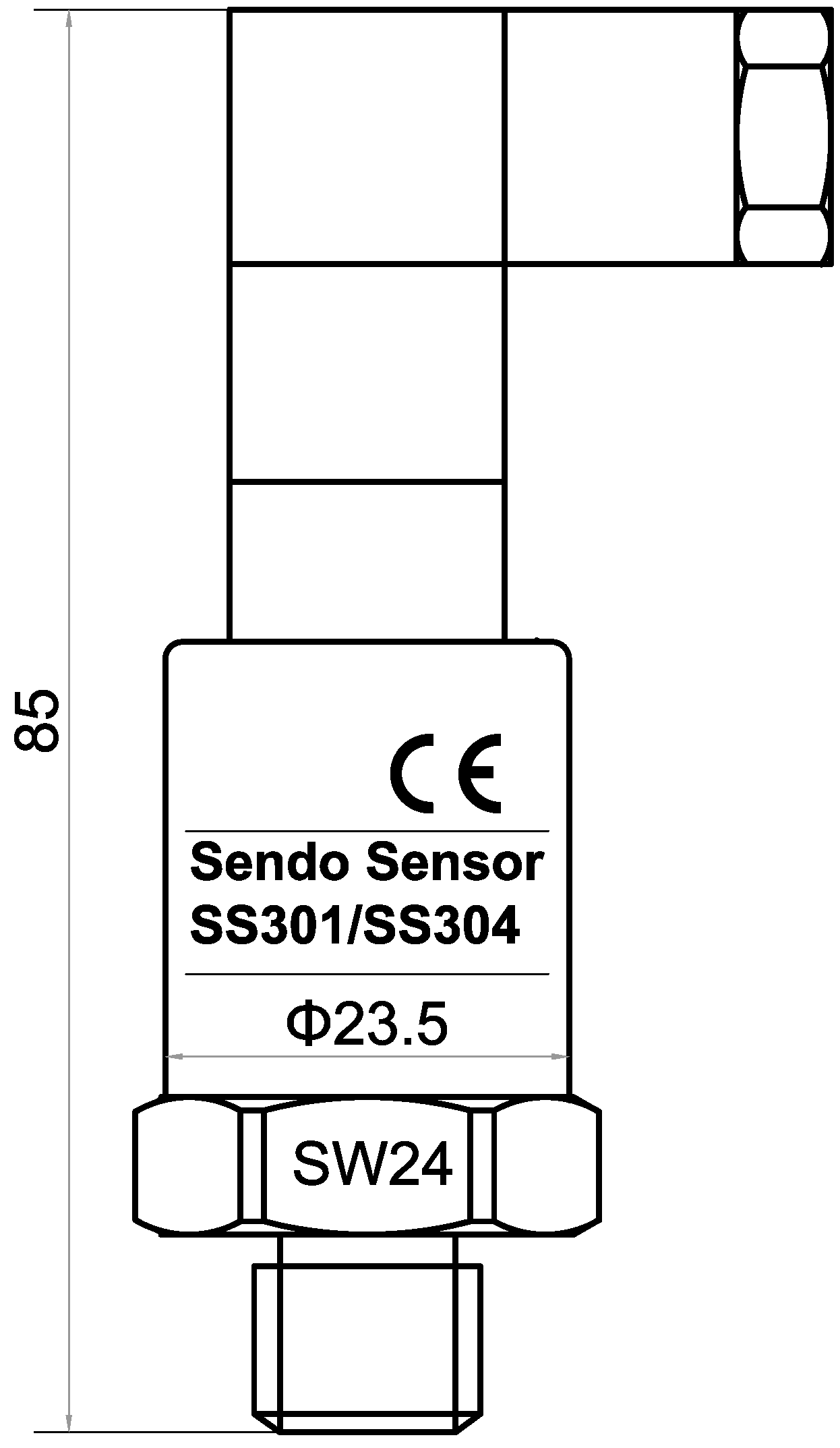 SS301 series 10bar pressure sensor for water