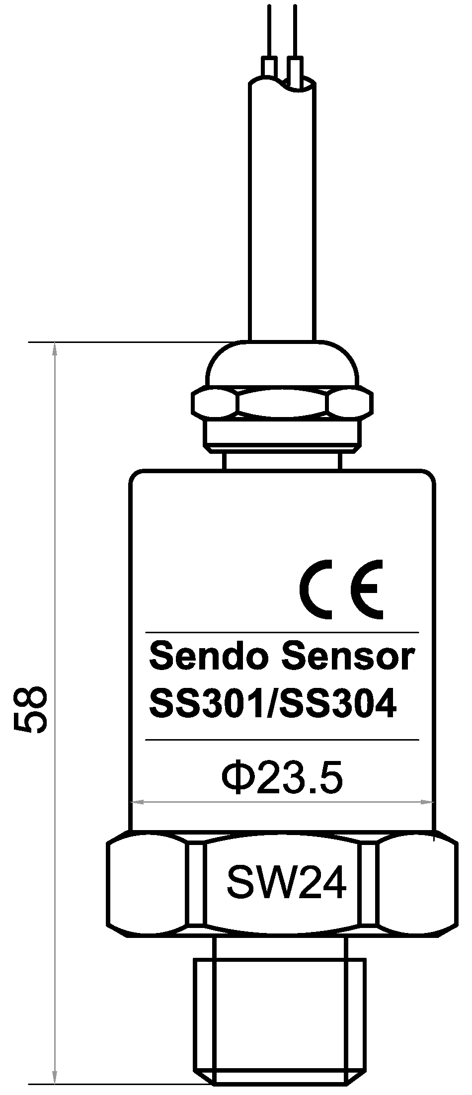 SS304 series 16bar pressure transmitter